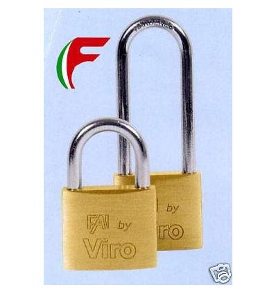 6 LUCCHETTI LUCCHETTO VIRO 555 ARCO CORTO IN ACCIAIO CORPO DA MM 50 CON CHIAVE UNICA
