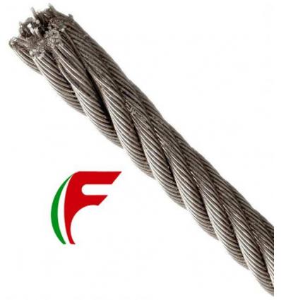 FUNE ACCIAIO ZINCATA TIPO COMMERCIALE MM 8X100 METRI TENUTA CIRCA 1920 KG