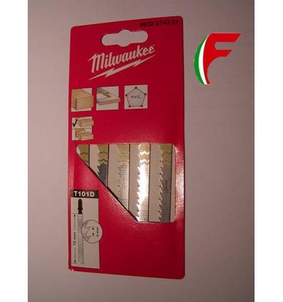 SET 5 LAME MILWAUKEE X SEGHETTO ALTERNATIVO TAGLIO LEGNO FINO MM 60 LAMA MM 75