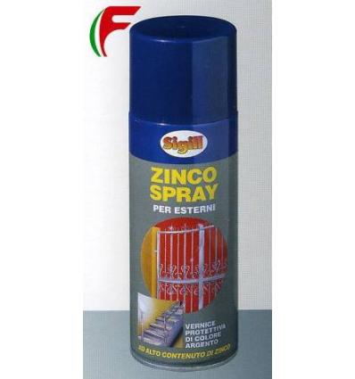 ZINCO SPRAY PURO AL 99% PROTETTIVO ANTICORROSIVO MARCA SIGILL ML 400