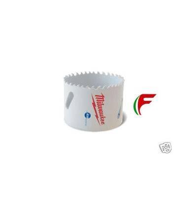 SEGA A TAZZA BI-METALLICA AL COBALTO MILWAUKEE MM 73 X ACCIAIO LEGNO PLASTICA