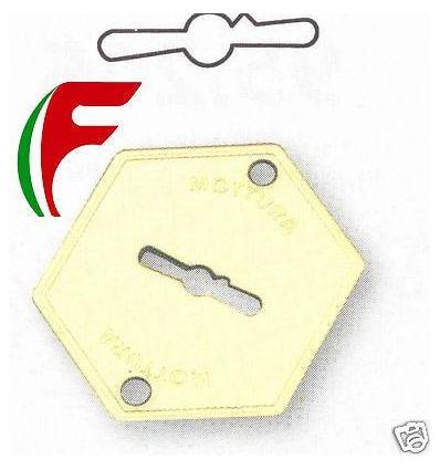 BOCCHETTA MOSTRINA X CHIAVE DOPPIA MAPPA MOTTURA PLACCA ART. 95.223 IN OTTONE